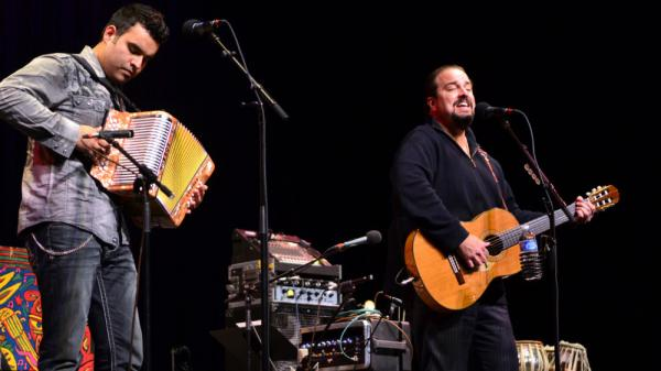Raul Malo (right) performed on <em>Mountain Stage.</em>