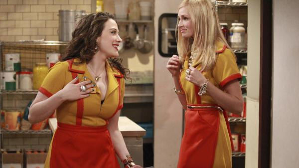 Kat Dennings and Beth Behrs star in CBS's new comedy <em>2 Broke Girls</em>.