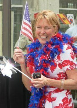 Jackie Northam celebrates her American citizenship.