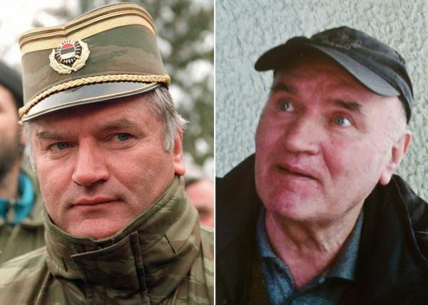 Former Bosnian Serb army chief Ratko Mladic: the left photo was taken February 15, 1994 and the right was on May 27, 2011.