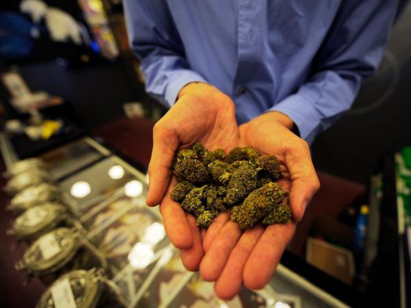 Marijuana buds for sale at the Sunset Junction medical marijuana dispensary in Los Angeles, Calif.
