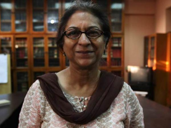Asma Jehangir, a human rights advocate and lawyer in Lahore, Pakistan, is an outspoken critic of the military.
