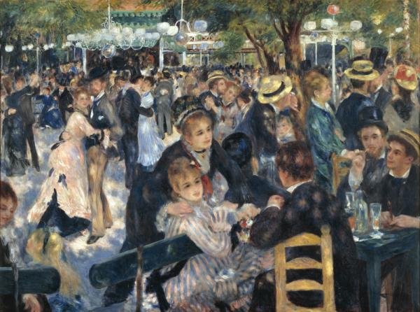 Caillebotte purchased Renoir's <em>Dance at Le moulin de la Galette</em> and many other Impressionist works long before they were popular. Works in his collection by the likes of Monet, Renoir, Pissarro and more would one day be recognized among the world's greatest Impressionist works.