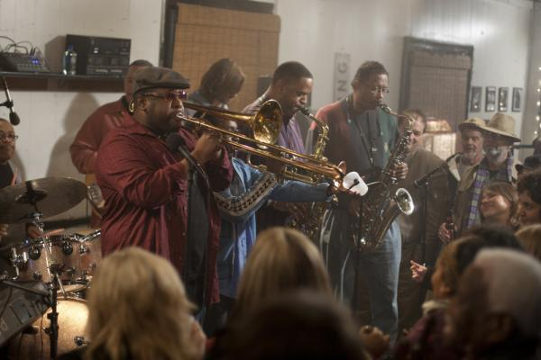 Antoine Batiste (Wendell Pierce) leads the Soul Apostles in the latest episode of <em>Treme</em>.