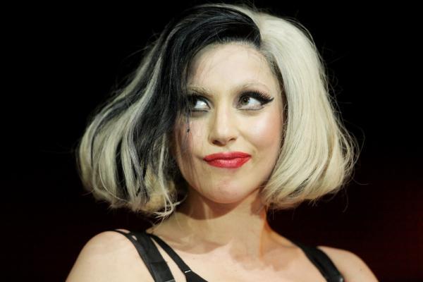 Lady Gaga in a performance at Carlisle Airport in Carlisle, England on May 15.