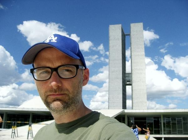 A self-portrait from Moby's new photo book <em>Destroyed</em>, released alongside a moody album of the same name.