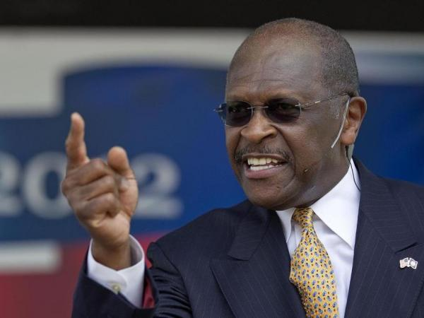 Herman Cain announces his run for Republican candidate for president at a May 21 rally in Atlanta. Cain, who has never held an elected office, has run a pizza chain, hosted a talk radio show and sparred with Bill Clinton over health care.
