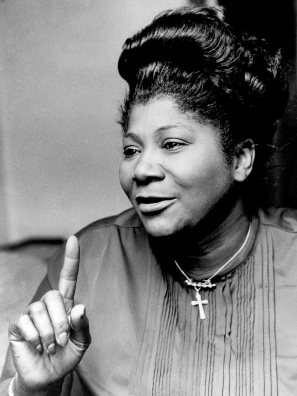 """The Queen of Gospel,"" Mahalia Jackson, circa 1970s."