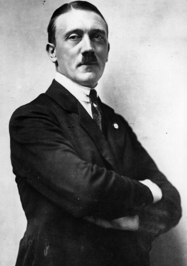 Adolf Hitler in 1921, two years after he wrote the letter.