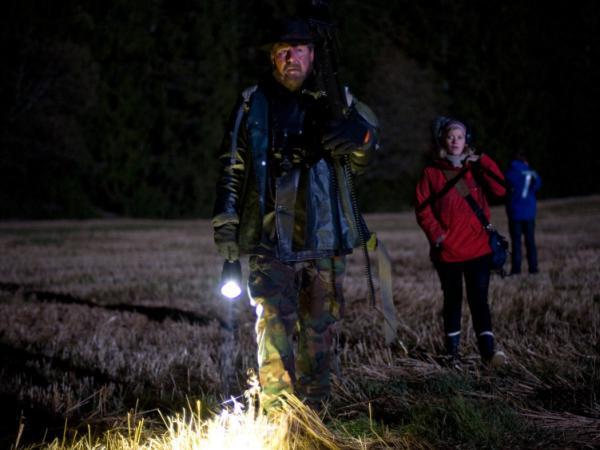 Otto Jespersen (left), Johanna Morck and Tomas Alf Larsen are on the hunt for beasts in the Scandinavian wilderness.