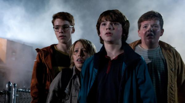 <strong>'Super' 4:</strong> Gabriel Basso (left), Ryan Lee, Joel Courtney and Riley Griffiths play teenagers shooting a homemade movie when a spectacular crash draws them into a world they weren't supposed to know about.