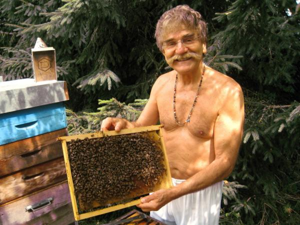 Yvon Achard, a French bee historian who likes to tickle his bees with his mustache, is one of several quirky bee specialists spotlighted in the movie.