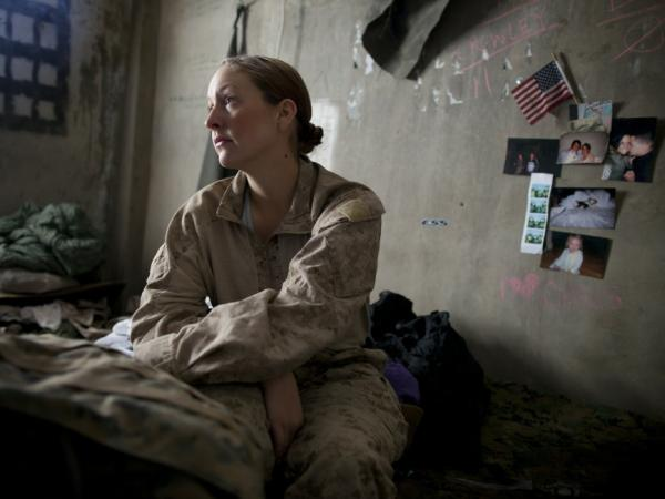 A US Navy sailor waiting to be sent out on a mission in Afghanistan in November 2010.