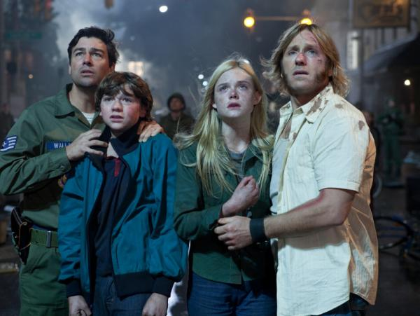 Kyle Chandler, Joel Courtney, Elle Fanning and Ron Eldard star in J.J. Abrams' new movie <em>Super 8.</em>