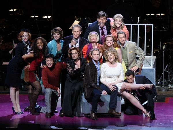The cast of <em>Company</em> includes Christina Hendricks, Martha Plimpton, Patti LuPone, Neil Patrick Harris, Jon Cryer, Craig Bierko and Stephen Colbert.