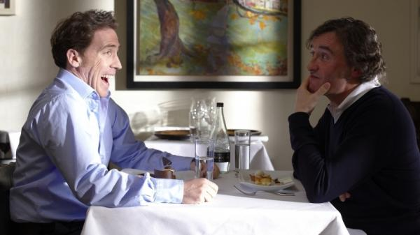 <strong> Best Impressions:</strong> Steve Coogan (right) and Rob Brydon trade barbs and impersonations in <em>The Trip</em>.