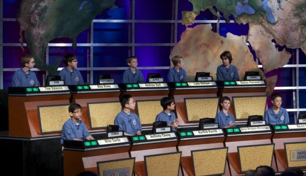 Contestants participate in the National Geographic Bee on May 25, 2011.