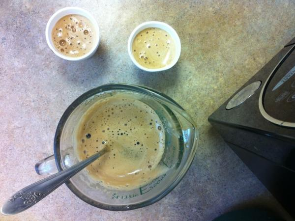 Sugar is whisked with a little coffee to create <em>espumita</em>, the frothy trademark element of Cuban coffee.