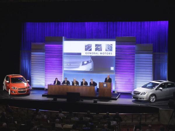 General Motors CEO Dan Akerson addresses the company's shareholders meeting in Detroit on Tuesday, June 7, 2011. In 2009, the government GM declared bankruptcy but was bailed out by the government.