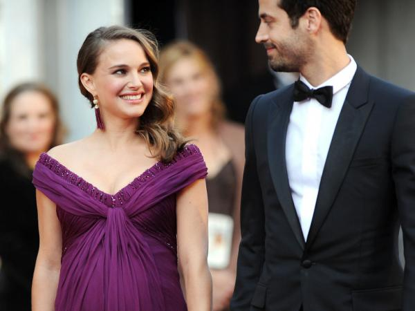 Actress Natalie Portman and Benjamin Millepied arrive at the 83rd Annual Academy Awards at the Kodak Theatre in Hollywood, Calif.