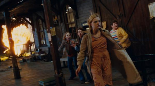 Elle Fanning is the sole girl in a crowd of boys in J.J. Abrams' <em>Super 8</em>.