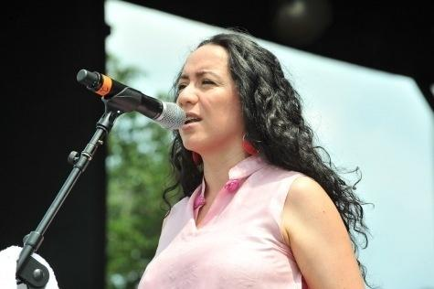 Claudia Acuña performs at the 2011 DC Jazz Festival's concert on the National Mall.