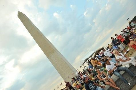 The DC Jazz Festival's concert on the National Mall takes place at the bandshell near the Washington Monument.