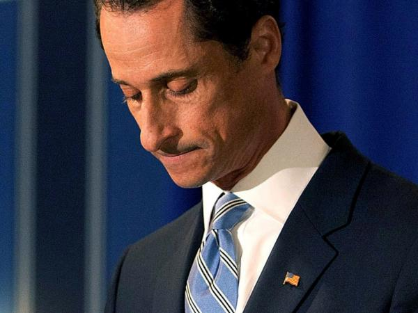 Rep. Anthony Weiner (D-NY) during a news conference earlier this month.