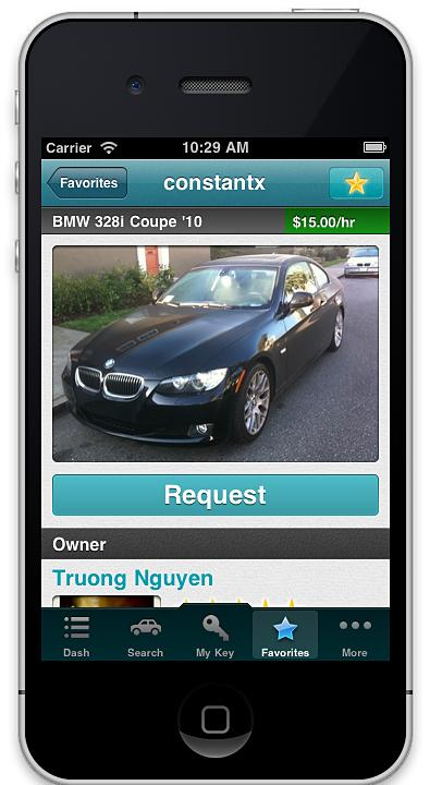 The Getaround app (above) lets users rent personal cars from other members. The photo-sharing service Path (below) allows its users to have a maximum of 50 friends.
