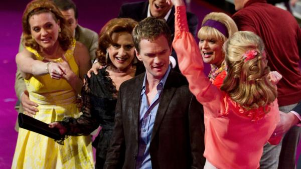 Neil Patrick Harris stands among the cast of <em>Company</em>, which played in select movie theaters this weekend.