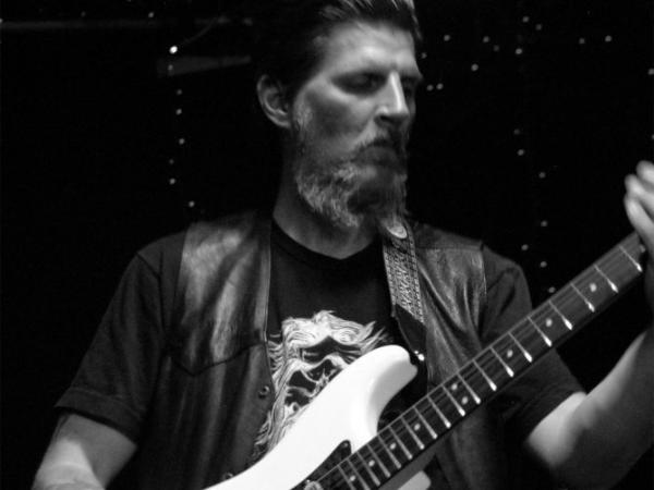 Dylan Carlson of Earth performs at the Ottobar in Baltimore, Md.