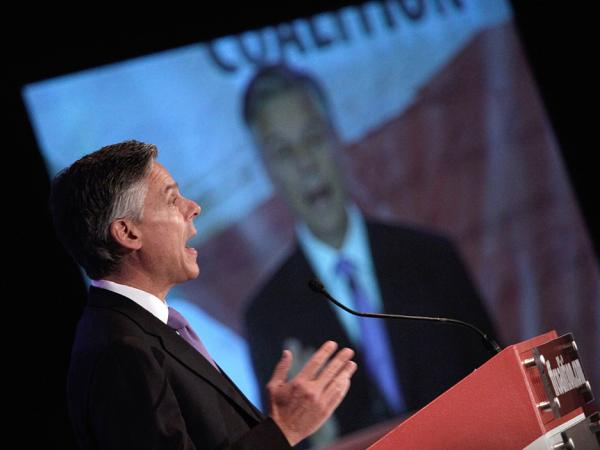 Former Utah Gov. Jon Huntsman addresses the Faith and Freedom Coalition in Washington, D.C. In the upcoming Republican primaries, limits on carbon emissions — which Huntsman once supported — are not expected to be a pivotal issue.