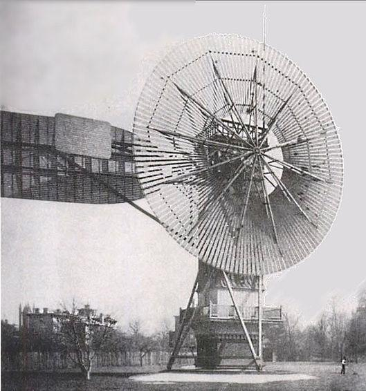 Charles Brush's automatic wind turbine.