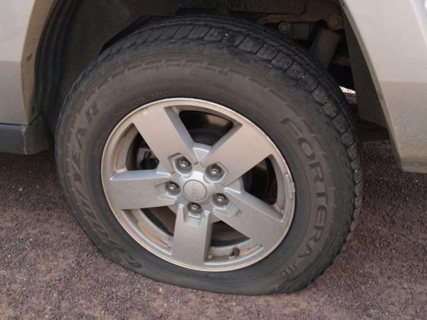 Pop your tire in a new car and you might have to hitch home.
