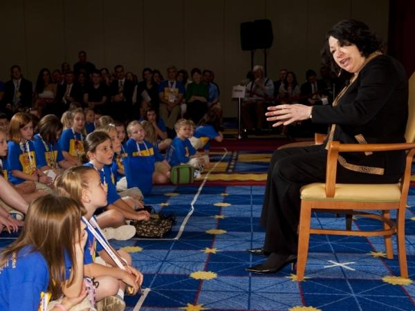 Justice Sonia Sotomayor told a group of children with type-1 diabetes about her struggles with the disease. She spoke Tuesday to the Children's Congress of the Juvenile Diabetes Research Foundation.