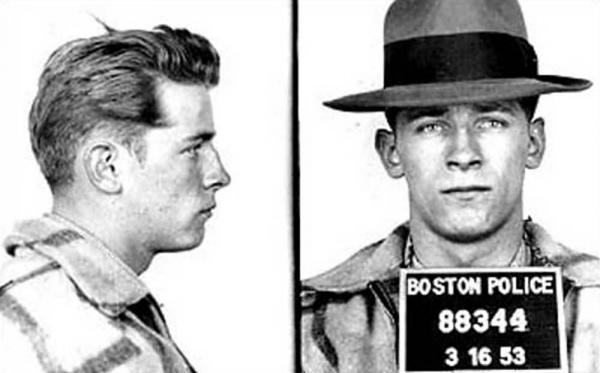 "An early mugshot shows James ""Whitey"" Bulger in 1953."