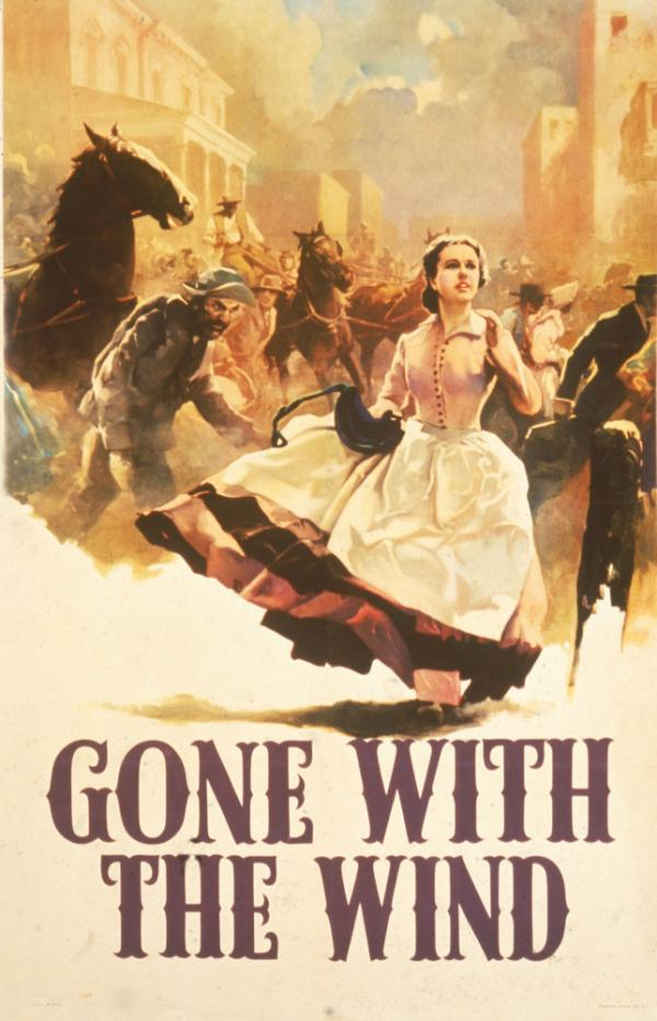 Margaret Mitchell's novel <em>Gone with the Wind</em> marks its 75th anniversary on Thursday. A 1936 promotional poster for the book shows heroine Scarlett O'Hara running through the streets as Atlanta burns.