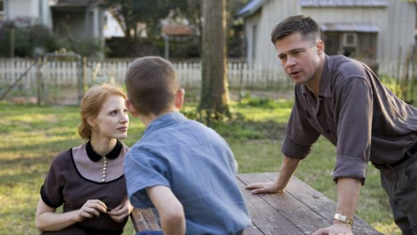 Part creation epic and part family drama, <em>The Tree of Life </em>stars Jessica Chastain and Brad Pitt as the parents of three boys in the '50s.