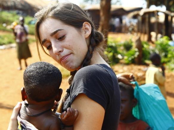 Davis has set up an organization that provides food, medication and school fees to Ugandan children.