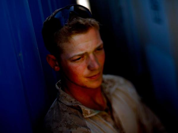 Marine Lance CPL. Andrew Zemore, 23, from Fredericksburg, Va., is a self-described troublemaker who liked to party too much. Zemore said he fell into the Marine Corps and now is on a Explosives Ordinance Disposal (EOD) team where he searches out bombs with a hand-held metal detector.