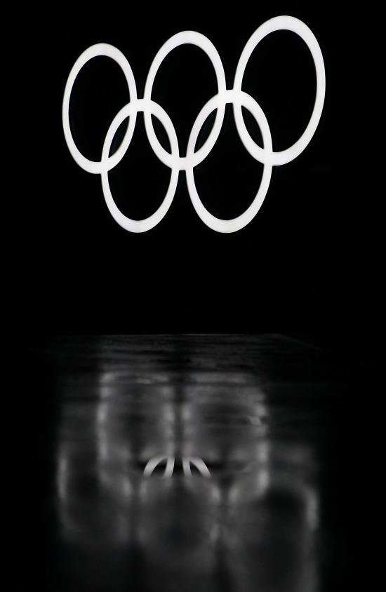 Feb. 25, 2010, file photo of the Olympic rings in Whistler, Canada, during the Vancouver Winter Olympics.