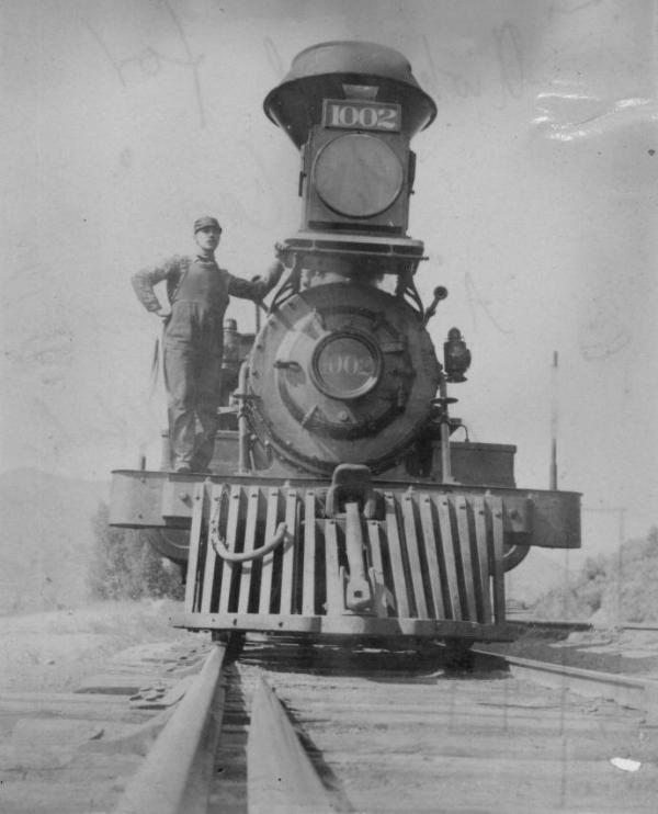 In <em>Railroaded,</em> Richard White describes how transcontinental rail companies shaped the American economy as they built tracks across the U.S. Above, a Union Pacific Rail Road  locomotive, pictured in Utah, circa 1894.