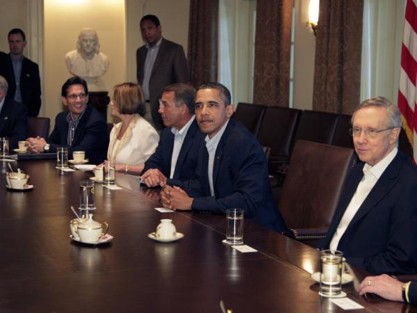 President Barack Obama meets with bipartisan congressional leaders on the debt.