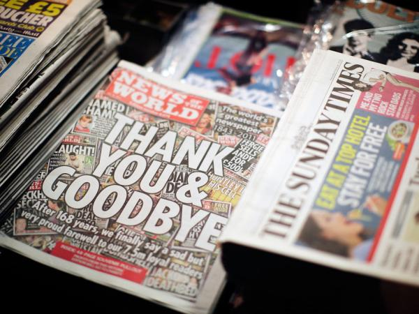 The scandal prompted News International to fold <em>News of the World</em>. Sunday's issue was the 168-year-old newspaper's last.