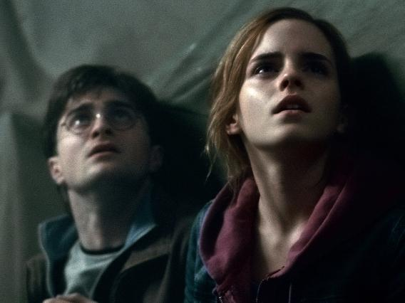 Harry Potter (Daniel Radcliffe, left) and Hermione Granger (Emma Watson) will soon discover that finding Horcruxes isn't half as demanding or soul-sucking as finding a job.