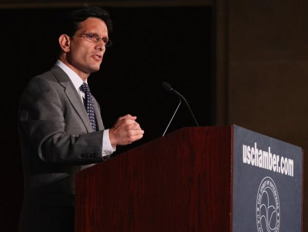 House Majority Leader Rep.  Eric  Cantor speaks at a U.S. Chamber of Commerce event on July 12.