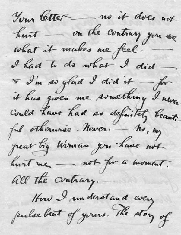 Letter by Alfred Stieglitz, Nov. 4, 1916.
