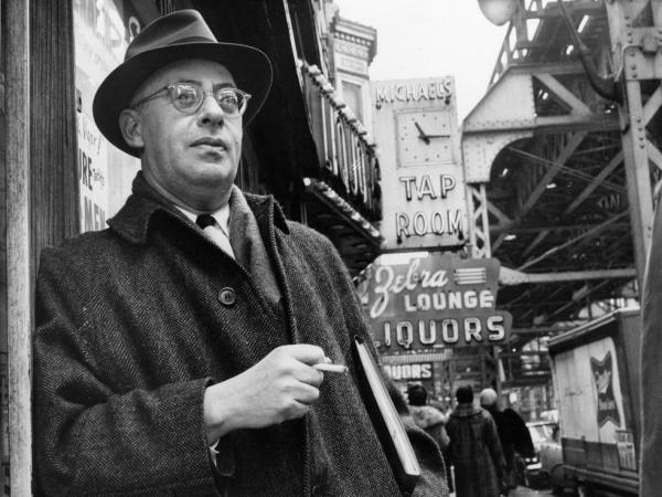 Saul Alinsky, a professional organizer with a strong aversion to welfare programs, is shown in this photo dated Feb. 20, 1966 on Chicago's south side where he organized the Woodlawn area to battle slum conditions.  Alinsky organized the Woodlawn area to battle slum conditions.