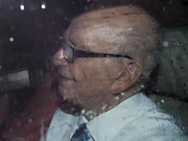 "News Corporation Chief Rupert Murdoch leaves the Houses of Parliament in London on July 19, 2011, after  giving evidence to a Parliamentary Select Committee on the phone hacking scandal. ""This is the most humble day of my life,"" Murdoch told British lawmakers."