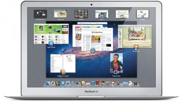 Apple's Mac OS X Lion on a Macbook Air.